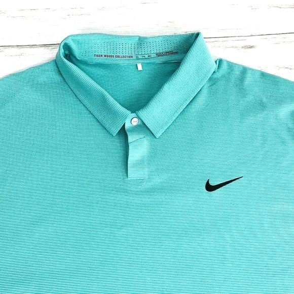 Aptitud solamente para  Nike Shirts | Nike Tiger Woods Collection Mens Golf Polo Teal | Poshmark